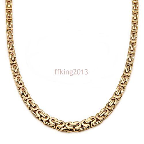6//8//10MM Homme Acier Inoxydable BYZANTIN Chaîne Collier Bracelet Bijoux Set Cadeau