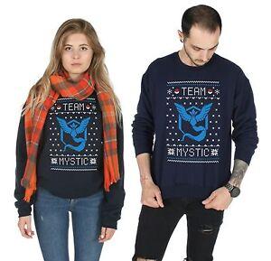 Team-Mystic-Christmas-Sweater-Top-Pullover-felpa-Natale-brutto-POKEMON-GO-VALOR