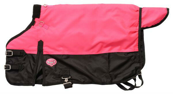 Miniature Horse & Donkey Waterproof Blanket w Gussets..PINK..Adjustable 48 -54