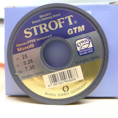 Stroft vorfach matériau GTM 25 Mètres Bobine 0,28mm de diamètre capacité de charge 7,3kg