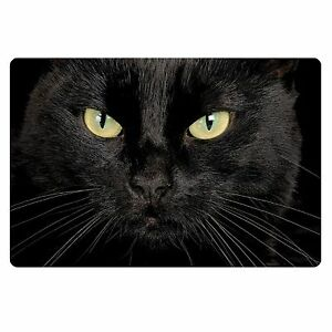 Black Cat Face Anti Skid Floor Area Rug Bedroom Bathroom