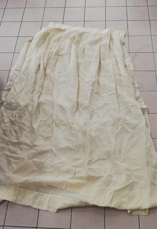 Lotto 21 Tende misto lino di alta qualità con ricami  (Made in )