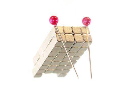 50 Stück preiswerte Power Mini Würfel 4x4x4 mm Magnete Neodym für Pinnwand