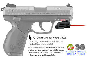 Armalaser Gto For Ruger Sr22 Red Laser Sight W Flx48 Grip Touch