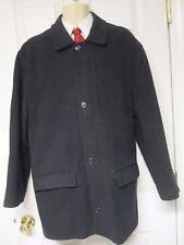 Fall Winter Brooks Brothers Men Gray Wool Zipper Coat Size L