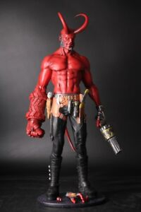 Hellboy 1 4 Figure Statue Pre Painted Toy W Replaceable Horn Hand