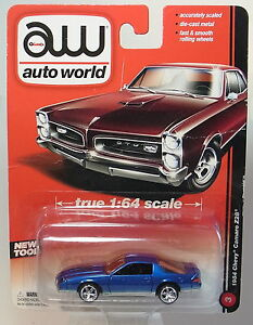 Autoworld-1-64-Chevrolet-Camaro-Z28-1984-blau-metallic-Blister