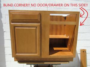 42 X 34 1 2 X 24 Blind Base Kitchen Cabinet Solid Wood Oak Vo Bbc42 Nib Ebay