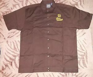 2afa4565e Image is loading UPS-NASCAR-Trackside-Services-shirt-button-up-Racing-