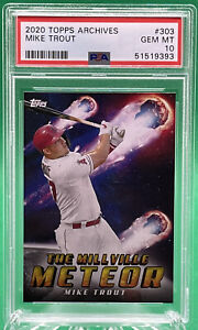 2020 Topps Archives Mike Trout #303 The Millville Meteor 🔥 PSA 10 🔥 LOW POP