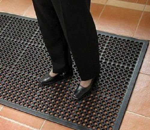 Large Heavy Duty caoutchouc Industriel Barre de sécurité Tapis de sol anti-fatigue 5/' X 3'12mm