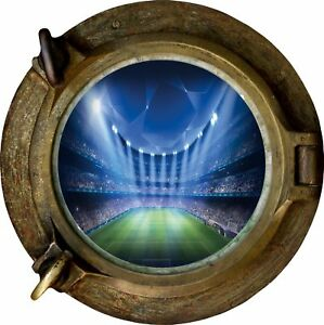 Huge-3D-Porthole-Fantasy-Football-Stadium-View-Wall-Stickers-Mural-Decal-397