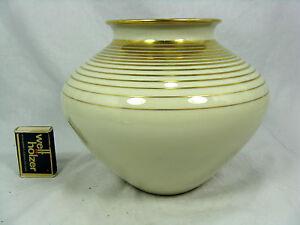 Well-shaped-60-s-design-Fuerstenberg-Porzellan-Vase-polished-gold-decoration-16