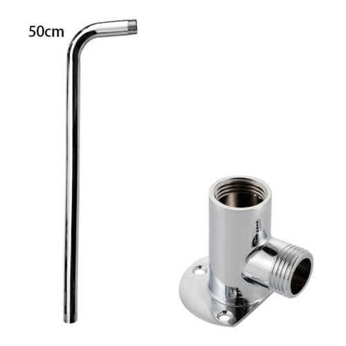 Wall Mounted Angled Rainfall Shower Head Extension Arm Horse Pipe Kit 30//40//50cm