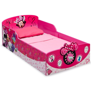 Details about Disney Minnie Mouse Theme Wooden Toddler Bed, Girls Bedroom  Decoration, Pink