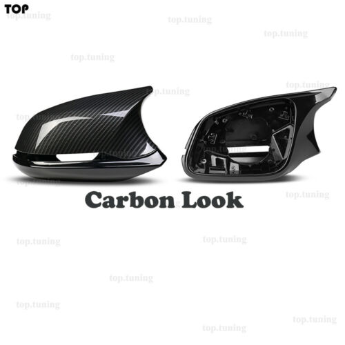 Carbon Look Side Mirror Cover Caps For BMW F20 F22 F30 F33 F36 M2 F87 X1 E84 12+