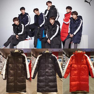 BTS PUMA FD KEEPFLWR Long Padded Down Coat 3Colors Black / Peacoat / Red |  eBay