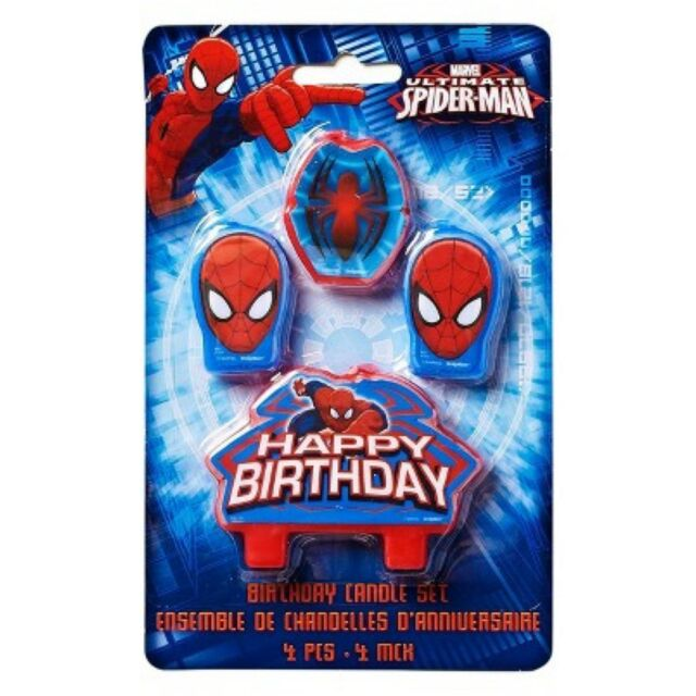 Spider Man Candles - Birthday Cake - Moulded - Spiderman Candle - Birthday Party