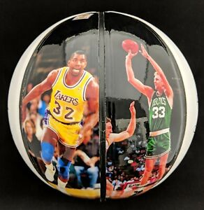 the best attitude 7885a a82ed Details about Larry Bird Magic Johnson Dual Autographed Basketball Limited  Edition