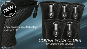 HYBRID-HEAD-COVERS-FULL-COMPLETE-3-4-5-6-7-SET-THICK-GOLF-CLUB-BLACK-HEADCOVER