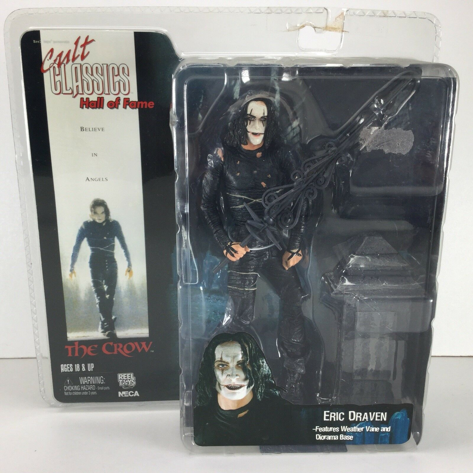 NECA Cult Classics Hall Of Fame The Crow Eric Draven Action Figure MOC Horror