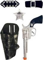 Single Cowboy Gun Holster Set Fancy Dress Toy Ranger Bandit Sheriff Wild West