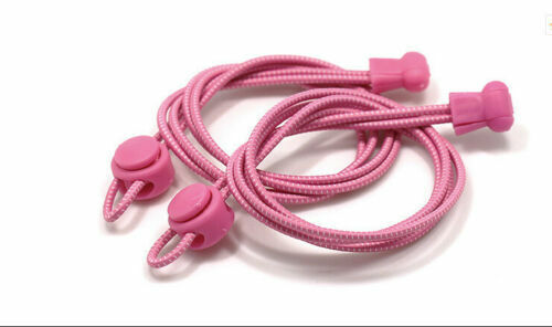 Shoe Laces No Tie Elastic Lock Lace System Lazy Shoelaces Runners Kids Adults UK