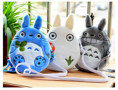 New Kawaii Totoro Plush Bag Shoulder Bag Pencil Case Purse Cosmetic Pouch
