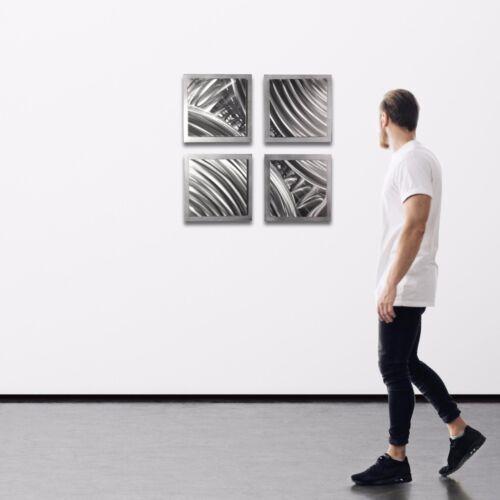 Abstract Metal Art Modern Wall Decor 3D Accent Sculpture Original Etching