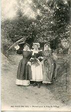 CARTE POSTALE / AU PAYS DU SEL PARTANT POUR LA FETE DU VILLAGE / 1905