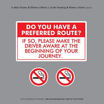Sign-Taxi-Avvertenza Hai un percorso preferito? esterni Adesivo