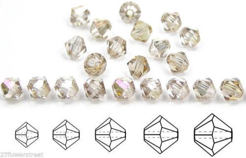 Rondell//Diamante Cristales De Cristal clarit Recubierto Cristal Checo Mc Cuentas Bicónicas