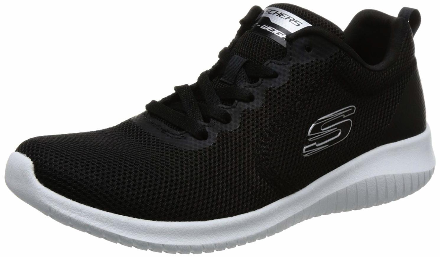 Skechers Ultra Ultra Ultra Flex Free Spirits 12846 Black White Womens Light shoes f8b2e6