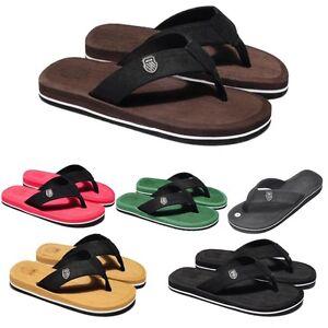 New-Men-039-s-Flip-Flops-Slippers-Flat-Up-Summer-Casual-Comfort-Beach-Sandals-Shoes