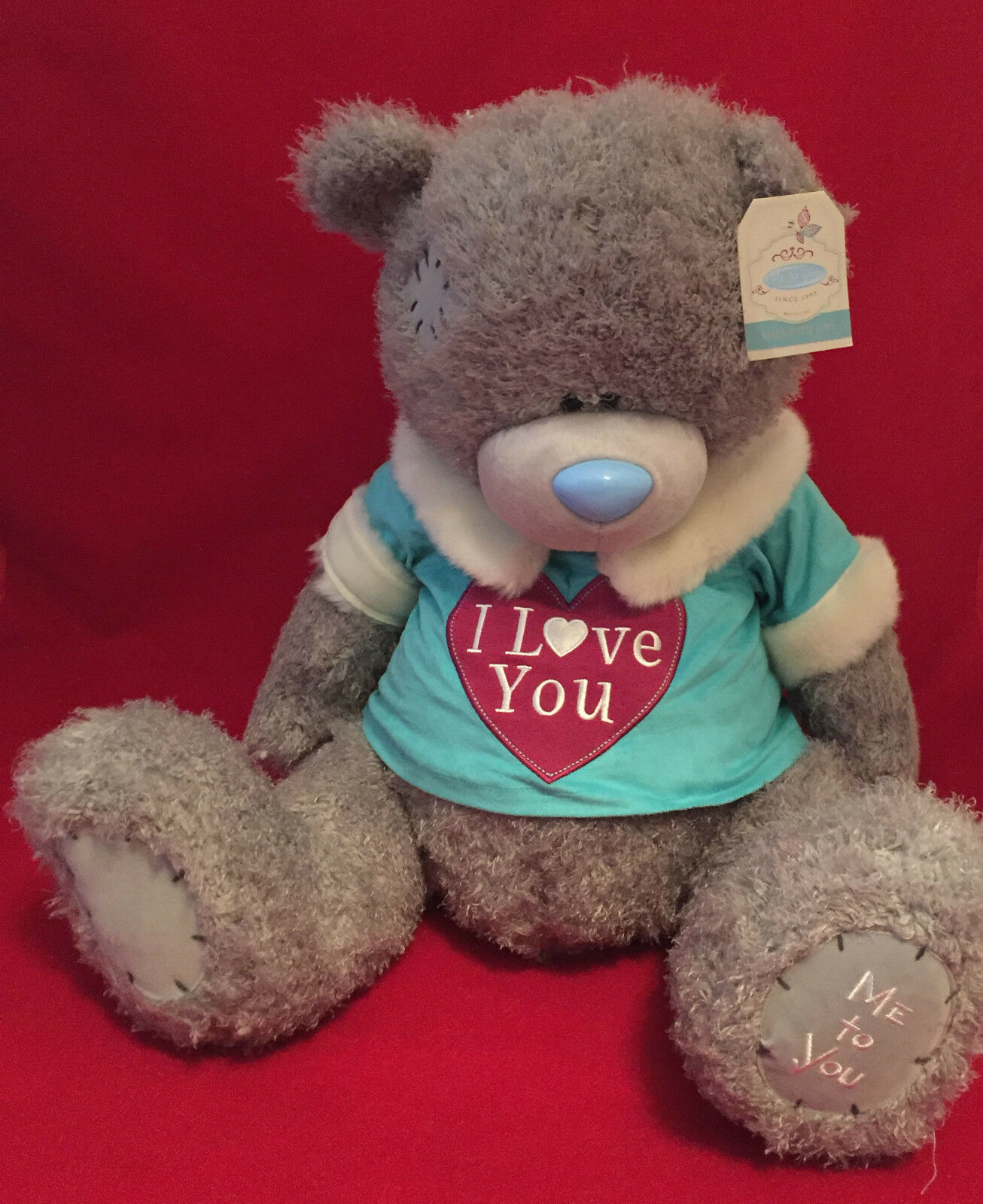 ME TO YOU BEAR TATTY TEDDY X LARGE 24 24 24  I LOVE YOU JUMPER FREE NEXT DAY DELIVERY ce0649