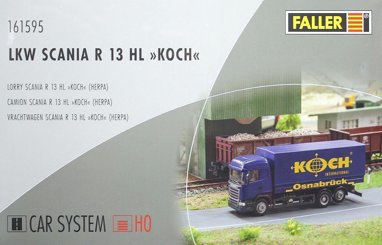 Faller 161595 H0 - CAR- SYSTEM LKW Scania R13 HL   Koch    NEU & OvP  | Deutschland Online Shop