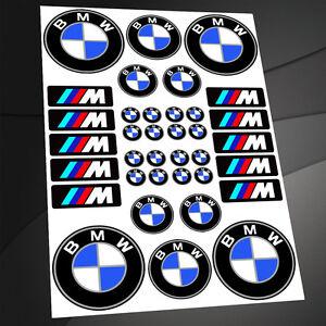 set 36 aufkleber bmw stickers emblem auto moto rennsport. Black Bedroom Furniture Sets. Home Design Ideas