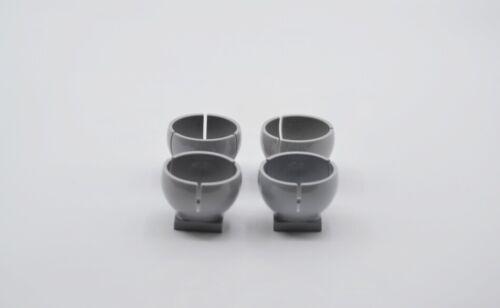 LEGO 4 x Zylinder neuhell grau Light Bluish Gray Cylinder Hemisphere 2x2 44358