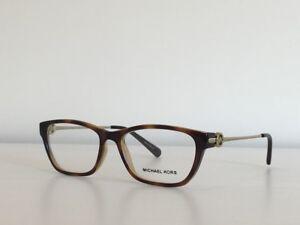 40a76f3315 203 Michael Kors MK 8005 3006 Deer Valley Cat Eye Havana Eyeglasses ...