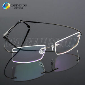 f55e155bc22 Image is loading Flexible-Memory-Titanium-Alloy-Rimless-Eyeglasses-Frames -Optical-