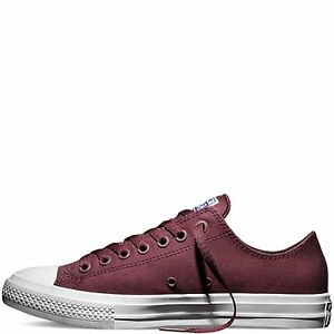 e0597f28d1b8 Converse Chuck Taylor All Star II Canvas Deep Bordeaux Shoes 150150C ...