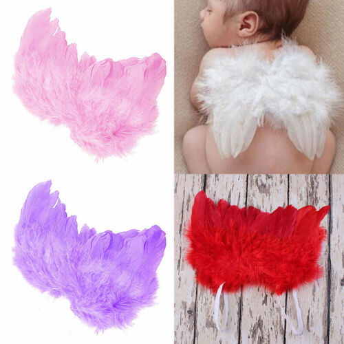 Cute Infant Toddler Baby Angel Fairy Feather Wings Props Costume Dress Hot