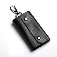 Men Women Leather Key Chain Pouch Fold Case Bag Holder Organiser Black/Brown New