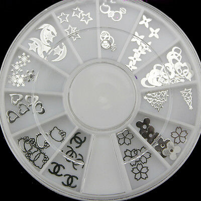 Hot Sail  Nail Art  Acrylic Glitters Tips Decoration Manicure Bead Wheel Gem
