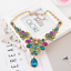Fashion-Crystal-Rhinestone-Statement-Bib-Chain-Choker-Pendant-Necklace-Jewelry thumbnail 28