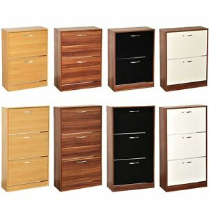 Image Is Loading 2 3 Drawer Shoe Cabinet Storage Cupboard Footwear