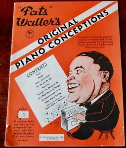 FATS WALLER ORIGINAL PIANO CONCEPTIONS SHEET MUSIC BOOK ...