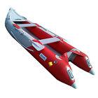 12 FT INFLATABLE KAYAK BOAT FISHING TENDER POONTON BOAT WITH AIR DECK FLOOR