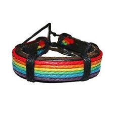 Pride Shack - Rainbow Leather Wristlet - Gay and Lesbian LGBT Pride Bracelet