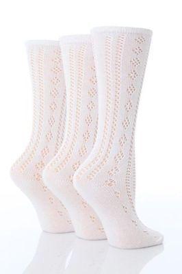 6 Pairs Girls Pelerine Knee High White School Socks  uk 9-12